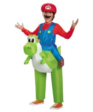 Super Mario Bros Mario Riding Yoshi Video Game Big Boys Costume
