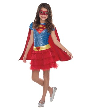 Supergirl Superhero Tutu Girls Dress