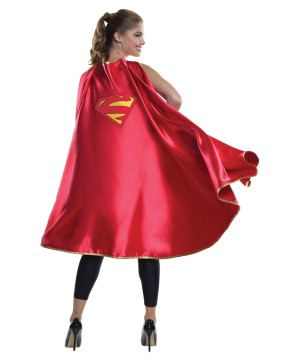 Womens Supergirl Costume Accessory Cape