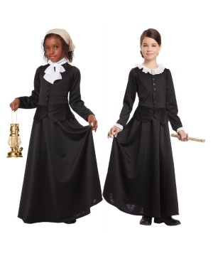 Susan B Anthony And Harriet Tubman Activist Girls Combination Costume