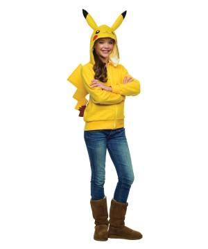 Girls Teen Pikachu Hoodie