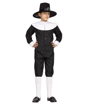 Thanksgiving Pilgrim Boys Colonial Halloween School Project Costume