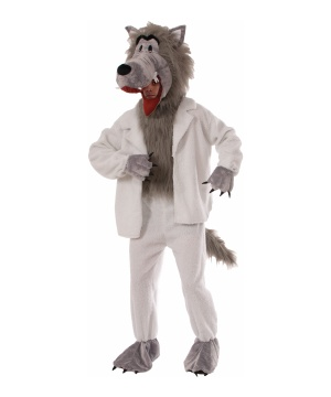 The Big Bad Wolf Mascot Adult Costume