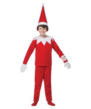 Christmas Holiday Elf On The Shelf Big Boys Costume