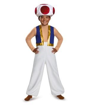 Toad Boys Super Mario Costume Nintendo Video Game Mushroom Deluxe