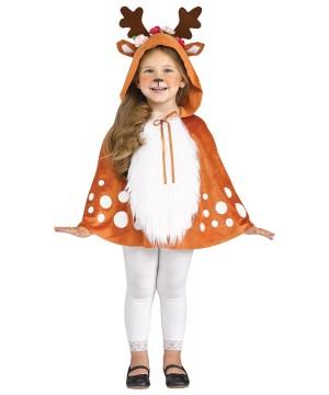 Toddler Deer Hooded Cape