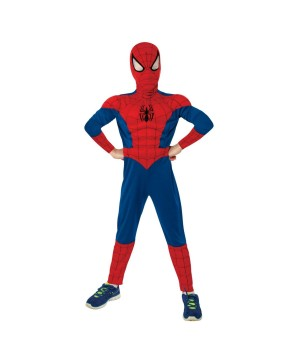 Ultimate Spiderman Movie Muscle Chest Boys Halloween Costume