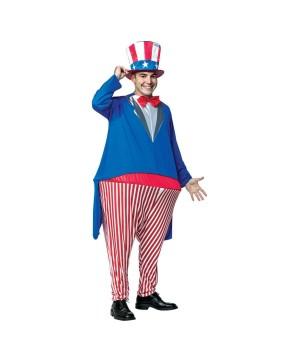 Uncle Sam Men Hoopster Costume