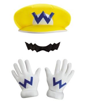 Super Mario Brothers Wario Men Costume Set