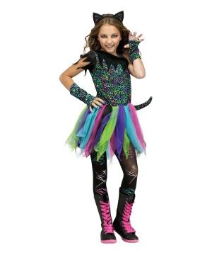 Wild Rainbow Cat Girls Animal Costume