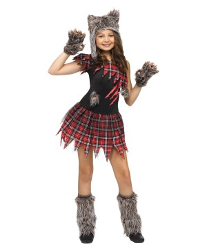 Wild Wolf Big Girls Costume