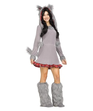 Girls Wolf Teen Costume