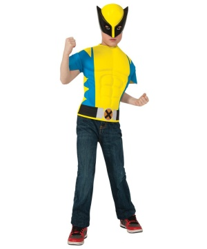 X?men Wolverine Boy's Muscle Costume Shirt