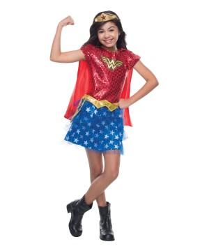 Wonder Woman Girls Marvel Sequin Superhero Halloween Costume