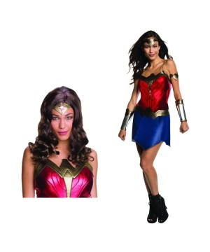 Wonder Woman Women Costume and Wig