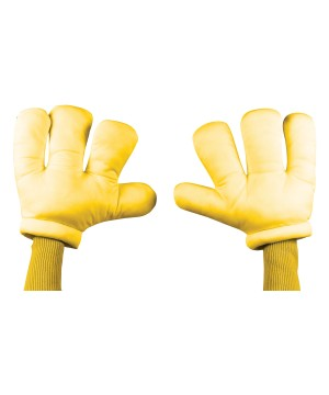 Yellow Cartoon Costume Men Hands