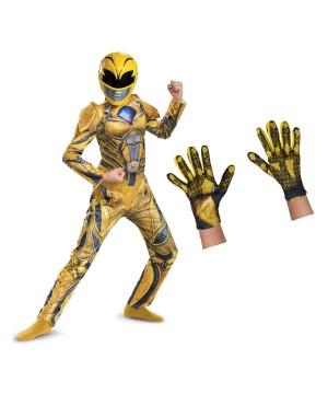 Yellow Power Ranger Kids Costume Set