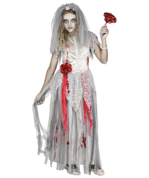 Girls Zombie Bride Costume